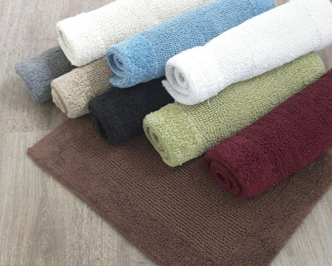 "Chardin home - 2 Piece Splendor Reversible Bath Rug Set, (17''x24'' / 17''x 24"", Linen-Beige"