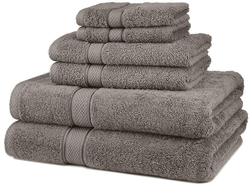 Pinzon Egyptian Cotton 6-Piece Towel Set, Gray