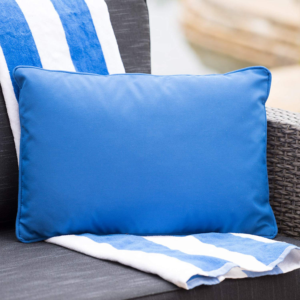 Christopher Knight Home Corona Outdoor Rectangular Water Resistant Pillow(s) (1, Blue)