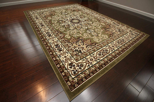 Generations New Oriental Traditional Isfahan Persian Area Rug, 2' x 3', Sage Green