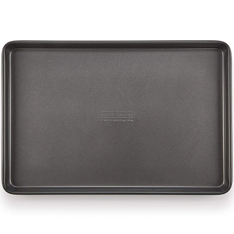 BLACK+DECKER 83389 Commercial Nonstick Cookie Sheet, Large, Gray