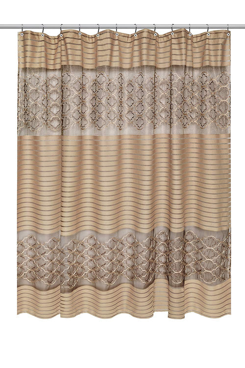 Popular Bath 824254 Spindle Shower Curtain