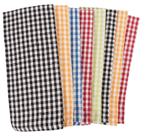 "KAF Home Gingham Check Kitchen Towels | Set of 8, 100% Pure Cotton, 16"" x 26"" Kitchen Towels 