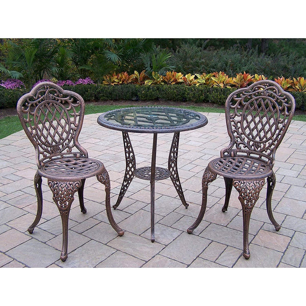 Oakland Living Corporation Oakland Living Dakota Cast Aluminum 3-piece Outdoor Bistro Set