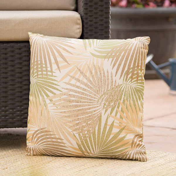 Christopher Knight Home Corona Outdoor Square Tropical Water Resistant Pillow (1, Tropical Sand)