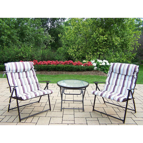 Oakland Living Corporation Effortless Foldable 3-Piece Bistro Set