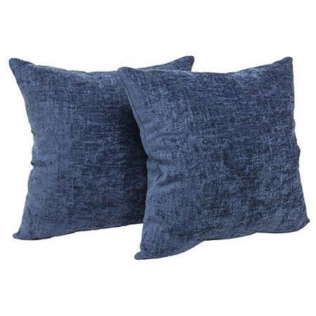 "Decorative Throw Pillow, 18"" x 18"", Navy, Two Pack"