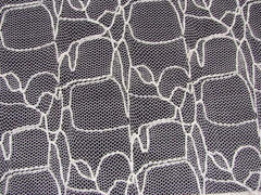 polyester rayon mesh embroidery bedlam