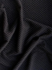 Textured sstretch Black Polyester blend Big Yarn