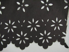 Nylon Polyester Cutout floral edge Blowout sable