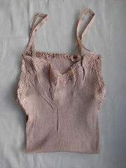 Silk and Cotton Ribbed Camisole