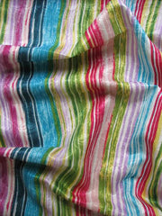 Multi coloured Stripes Pure Silk Carnival