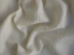Metal Thread Cotton Polyester Blend Coco Ivory