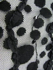 black embroidered floral net Dazzle cu