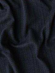 Wool Viscose Black Herringbone