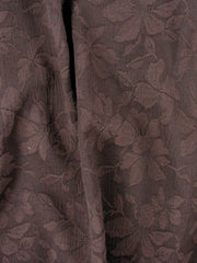 Brown floral Cotton Polyester Lily