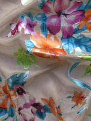 Silk Rayon Floral Georgette Lily