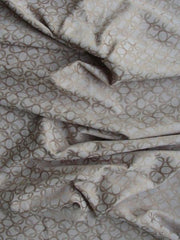 Polyester Cotton Spandex Blend Chain mail Print Link Latte