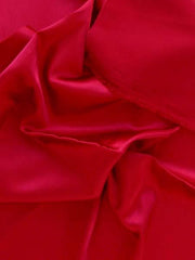 Polyester Blend Stretch Red Lola