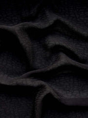 Rayon Georgette Jacquard Mythical Black