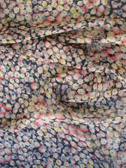 Floral Print Polyester Ozone