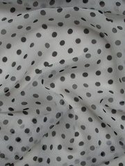 Pure Silk Georgette Spots Print Dotty