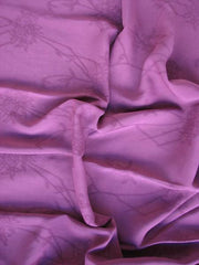 Rayon Jacquard Floral Plum Replay
