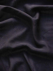 Rayon Georgette Jacquard Replay Black
