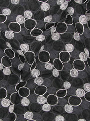 Embroidered Circles Polyester Nylon Shabby