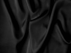 Silk Satin Lycra Stretch Silk Satin Black
