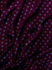Spots Silk Viscose blend drape Spotty