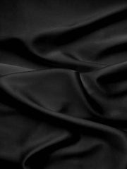Stretch Silk Satin Lycra Black