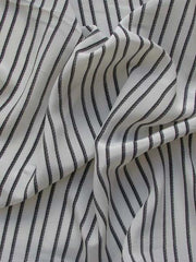 Black and White Warp Striped Stripes POlyester ZIP