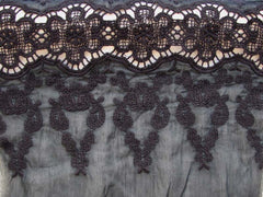"embroidered silk fabric: ""AERO"" silk blend"