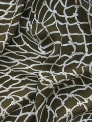 "Patterned Silk: ""BASKET"" 112cm SILK PRINT"