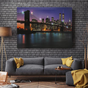 LED Lighted Brooklyn Bridge Light Up Canvas Painting Wall Art Decor 40*30cm