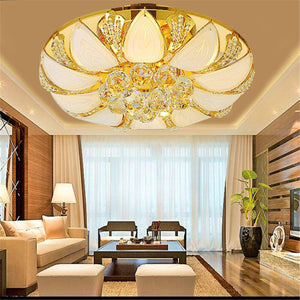 Elegant Crystal Chandelier 7 Color Light Ceiling Pendant Lamp Fixture Home Decor