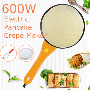 3X Kitchen Tool Orange Handle Electric Griddle Pancake Crepe Maker 42x20cm