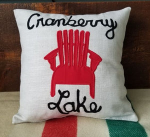 "Cranberry Lake 14"" Pillow"