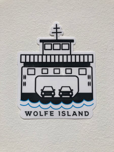 WOLFE ISLAND STICKER