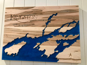 KINGSTON WOOD RESIN MAP