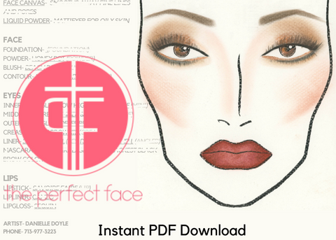 TPF Cosmetics Pageant Production Instant Face Charts
