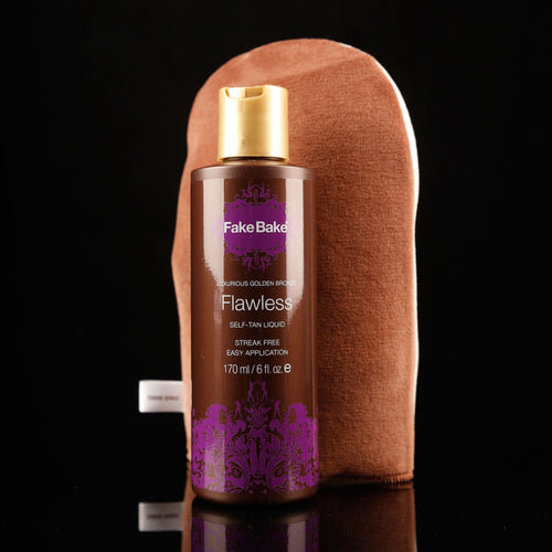 Fake Bake Flawless Self Tan Liquid with Mitt