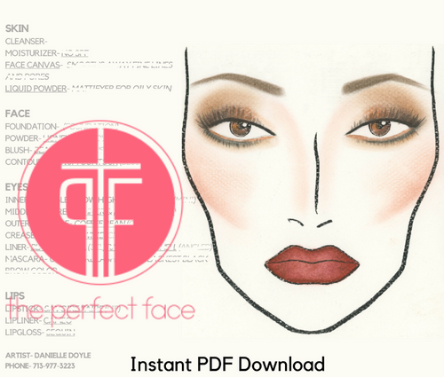 Pageant/Production Instant Face Charts