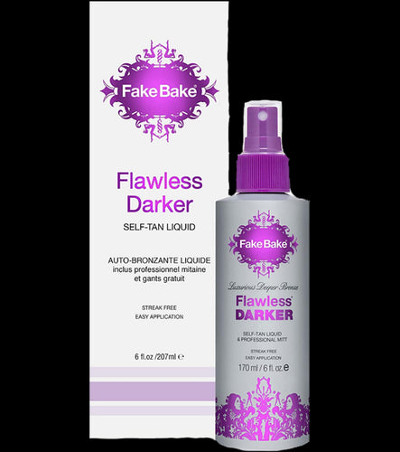 Fake Bake Flawless Darker Self Tan Liquid with Mitt