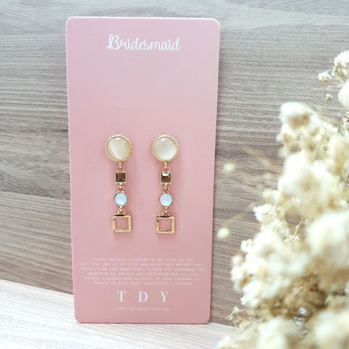 TDY Bridesmaid Gift Ohara Earring