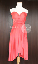 Load image into Gallery viewer, TDY Coral Short Infinity Dress