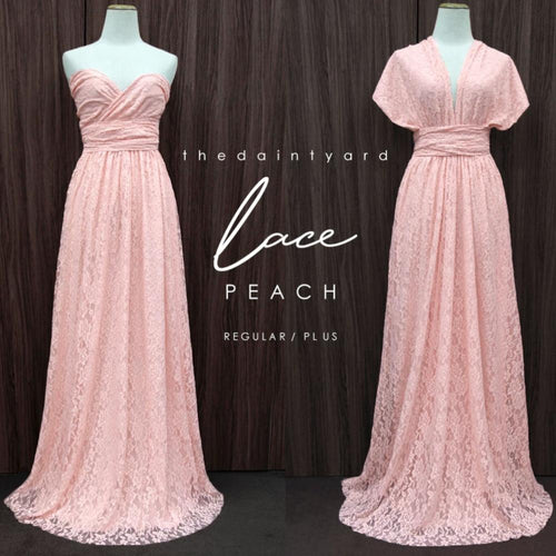 TDY Peach Maxi Infinity Lace Dress