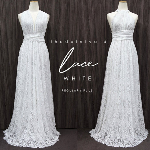 TDY White Maxi Infinity Lace Dress
