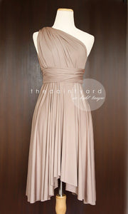 TDY Light Taupe Short Infinity Dress